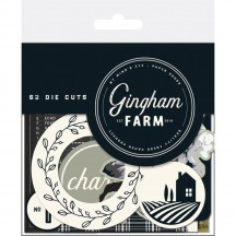 My Mind's Eye Gingham Farm Mixed Bag Die-Cut Cardstock Ephemera Pieces GHF116