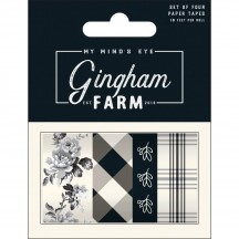 My Mind's Eye Gingham Farm Decorative Washi Tape Collection GHF119
