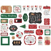 Echo Park A Gingerbread Christmas Ephemera Die Cut Cardstock Pieces GC221024