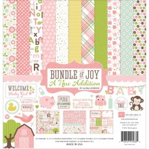 "Echo Park Bundle of Joy 2 A New Addition Girl 12""x12"" Collection Kit BJGT7916"