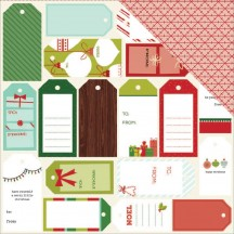 "American Crafts Shimelle Christmas Magic Give Double-sided 12""x12"" Cardstock 340615"