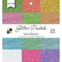 "DCWV Glitter Pastels 6""x6"" Cardstock Stack 24 sheets PS-006-00119"