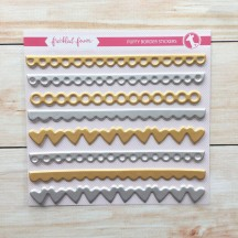 Freckled Fawn Gold & Silver Puffy Border Stickers
