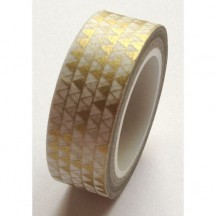 Freckled Fawn Gold Triangle Designer Washi Tape 10m