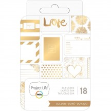 """Becky Higgins Project Life Golden 3""""x4"""" Card Pad 380605"""