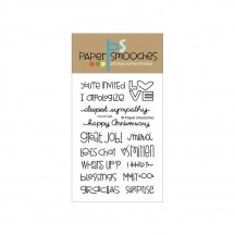 """Paper Smooches Good Gab Sentiment 4""""X6"""" Clear Stamps"""