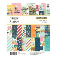 "Simple Stories Going Places 6""x8"" Double-Sided Paper Pad 12314"