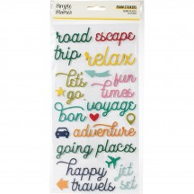 Simple Stories Going Places Foam Phrase Stickers 12322