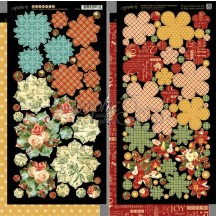 Graphic 45 Papercrafting Twelve Days Of Christmas Double-Sided Cardstock Flowers 4500736