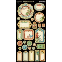 Graphic 45 Home Sweet Home Die-Cut Chipboard 1 Journaling Sheet 4501080