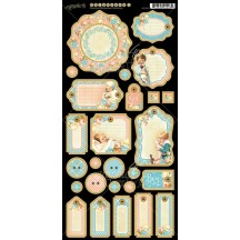 Graphic 45 Precious Memories Die-Cut Chipboard 1 Elements Sheet 4501096