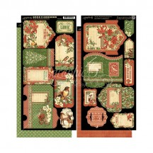 Graphic 45 Winter Wonderland Double-Sided Cardstock Tags and Pockets 4501608