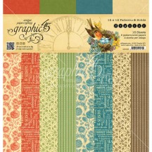 "Graphic 45 Seasons Patterns & Solids 12""x12"" Paper Pad 4501625"