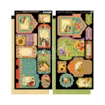 Graphic 45 Seasons Double-Sided Cardstock Tags and Pockets 4501626
