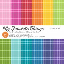 """My Favorite Things Graphic Grid 6""""x6"""" Paper Pack"""