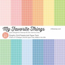 """My Favorite Things Graphic Grid Pastels 6""""x6"""" Paper Pack"""