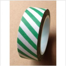 Freckled Fawn Green Airmail Stripe Designer Washi Tape 10m