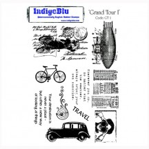 IndigoBlu Grand Tour 1 A5 Cling Mounted Rubber Stamp Sheet GT1