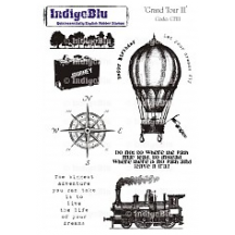 IndigoBlu Grand Tour 3 A5 Cling Mounted Rubber Stamp Sheet GT3
