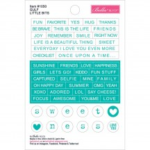 "Bella Blvd Just Add Color Gulf 4""x6"" Little Bits Stickers 1050 aqua"
