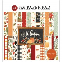 "Carta Bella Hello Autumn 6""x6"" Double-Sided Paper Pad HEA122023"