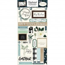 Carta Bella Home Again Self Adhesive Chipboard Phrases Stickers HOA109022