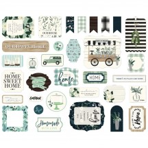 Carta Bella Home Again Ephemera Die Cut Cardstock Pieces HOA109024