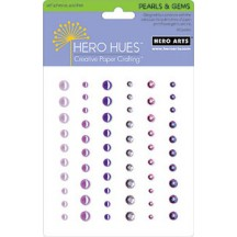 Hero Arts Mixed Accents Self Adhesive Pearls and Gems - Purple CH210