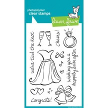 Lawn Fawn Wedding Clear Stamps - Happily Ever After LF336
