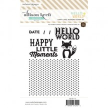 Webster's Pages Hello World Happy Little Moments Cling Stamp Set IB-WP-117