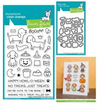 Lawn Fawn Happy Howloween Clear Halloween Stamp & Die Set LF1206 LF1207