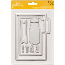 Pebbles Harvest Tab and Recipe Card Metal Universal Cutting Dies 732890