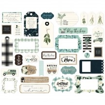 Carta Bella Home Again Frames & Tags Die Cut Cardstock Pieces HOA109025