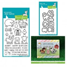 Lawn Fawn Hay There Clear Stamps & Die Set LF1595 LF1596