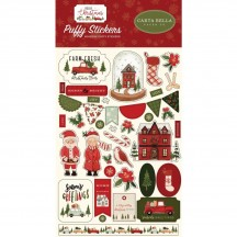 Carta Bella Hello Christmas Puffy Icon Stickers HC124066
