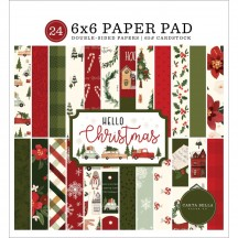 "Carta Bella Hello Christmas 6""x6"" Double-Sided Paper Pad HC124023"
