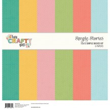 "Simple Stories Hey, Crafty Girl Simple Basics 12""x12"" Paper Kit 11914"