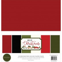 "Carta Bella Hello Christmas 12""x12"" Solids Paper Kit HC124015"