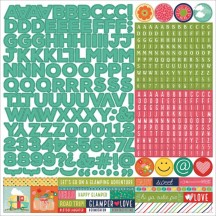 "Photoplay 12""x12"" Happy Glamper Alpha Letter Stickers HD2254"