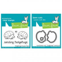 Lawn Fawn Hedgehugs Clear Stamps & Cutting Die Set LF729 LF730