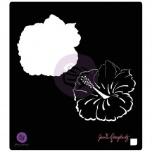 "Prima Jamie Dougherty Bloom Hibiscus 6""x6"" Stencil Mask 980382"