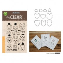 Hero Arts Hipster Animals Clear Stamp & Die Set