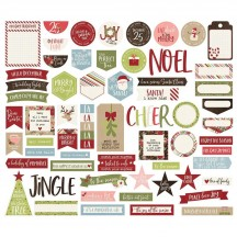 Simple Stories Holly Jolly Christmas Journal Bits & Pieces Die-Cut Cardstock Embellishments 11421