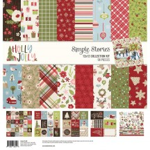 "Simple Stories Holly Jolly Christmas 12""x12"" Collection Kit 11400"