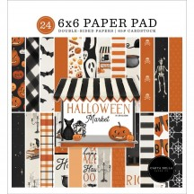 "Carta Bella Halloween Market 6""x6"" Double-Sided Paper Pad HM121023"