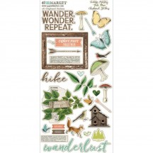 49 and Market Vintage Artistry Hike More Chipboard Stickers VTH-34383