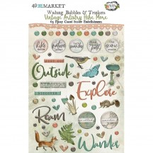 49 and Market Vintage Artistry Hike More Wishing Bubbles & Trinkets Epoxy Coated Sticker Embellishments VTH-34376