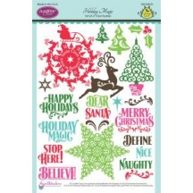 "JustRite Holiday Magic 6"" x 8"" Christmas Clear Stamps SW-04610"