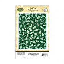 JustRite Holly Swirls Cling Mounted Rubber Background Stamp CL-02068