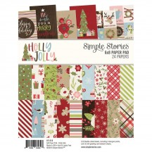 "Simple Stories Holly Jolly Christmas 6""x8"" Double-Sided Paper Pad 11418"